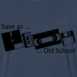 Save as ... Old School Shirt - Men's Premium Long Sleeve T-Shirt