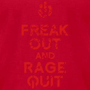 keep calm rage quit Long Sleeve Shirts - Men's T-Shirt by American Apparel