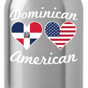 Dominican American Flag Hearts - Water Bottle