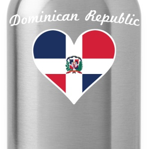 Dominican Republic Flag Heart - Water Bottle