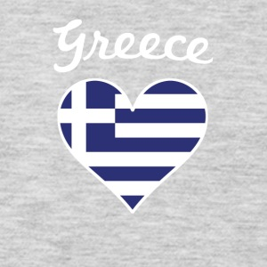 Greece Flag Heart - Men's Premium Long Sleeve T-Shirt