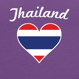 Thailand Flag Heart - Women's Premium Tank Top