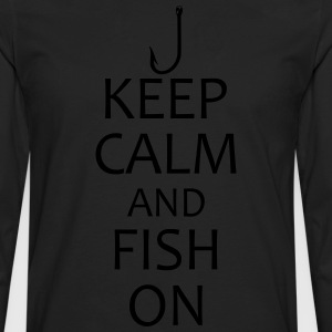 keep calm and fish on t-shirt - Men's Premium Long Sleeve T-Shirt