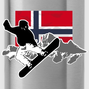 Snowboarding - Norway Flag Hoodies - Water Bottle