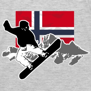 Snowboarding - Norway Flag Hoodies - Men's Premium Long Sleeve T-Shirt