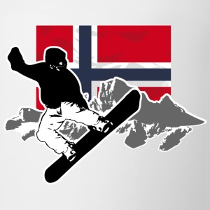 Snowboarding - Norway Flag T-Shirts - Coffee/Tea Mug