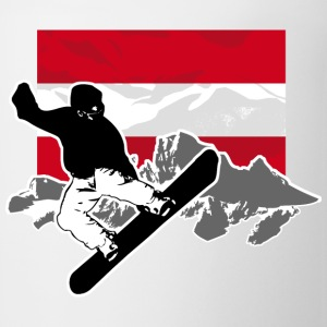 Snowboarding - Austria Flag T-Shirts - Coffee/Tea Mug