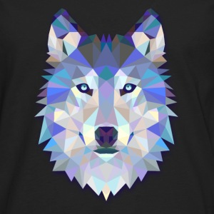 Geometric Wolf T-Shirts - Men's Premium Long Sleeve T-Shirt