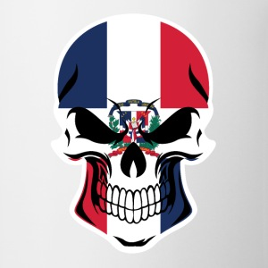Dominican Flag Skull - Coffee/Tea Mug