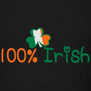 ♥ټ☘I'm 100% Irish Stylish Snapback Hat☘ټ - Men's T-Shirt