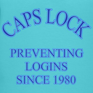 Caps Lock - Women's V-Neck T-Shirt