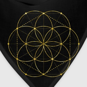 Golden Egg Of Life Sacred Geometry Bags & backpacks - Bandana