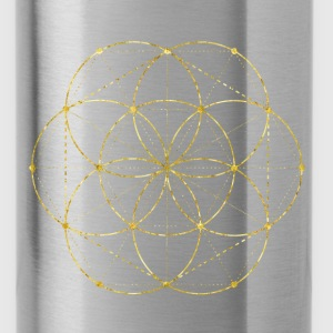 Golden Egg Of Life Sacred Geometry Bags & backpacks - Water Bottle