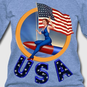 Flag USA - Women's Wideneck Sweatshirt
