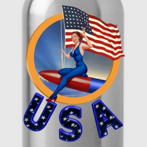 Flag USA - Water Bottle