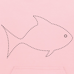 Trace or cut out and color the fish - Kids' Hoodie