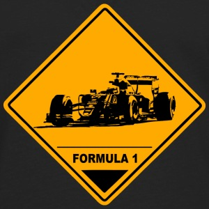 Formula One Racer Road Sign T-Shirts - Men's Premium Long Sleeve T-Shirt