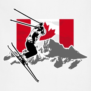 Alpine Ski - Canada Flag Hoodies - Adjustable Apron