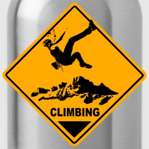 Climbing Road Sign T-Shirts - Water Bottle