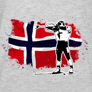 Biathlon - Norway Flag Hoodies - Men's Premium Long Sleeve T-Shirt