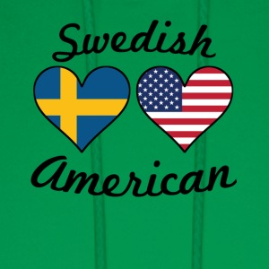 Swedish American Flag Hearts - Men's Hoodie