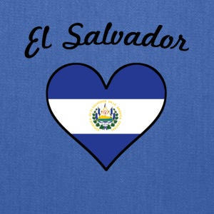 El Salvador Flag Heart - Tote Bag