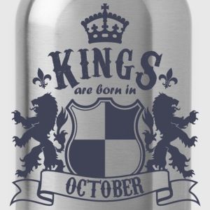 Kings are born in October - Water Bottle