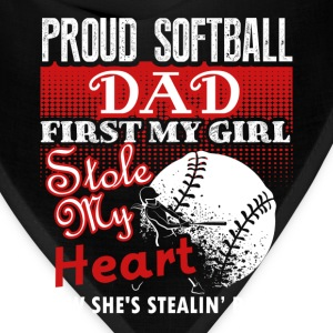 Proud Softball Dad Tee Shirt - Bandana