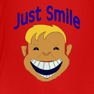 Smile Boy Face - Toddler Premium T-Shirt