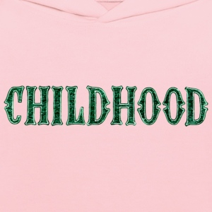 Noble characteristic typography childhood - Kids' Hoodie