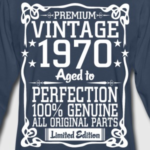 Premium Vintage 1970 Aged To Perfection 100% Genui T-Shirts - Men's Premium Long Sleeve T-Shirt
