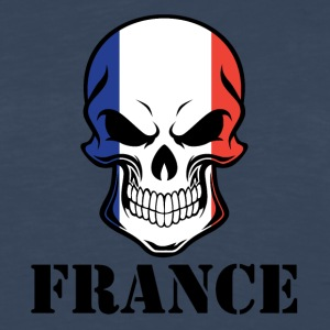 French Flag Skull France - Men's Premium Long Sleeve T-Shirt