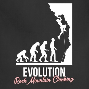 Rock climbing - Evolution. Rock mountain climbing - Adjustable Apron