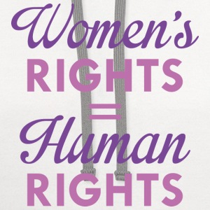 Women's Rights Are Human Rights - Contrast Hoodie