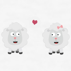 Sheeps in love with heart U7b4v Phone & Tablet Cases - Men's T-Shirt