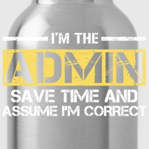 Admin T-Shirts - Water Bottle