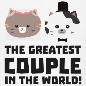 Greatest Cat Couple in the world Ud2n1 Mugs & Drinkware - Men's T-Shirt