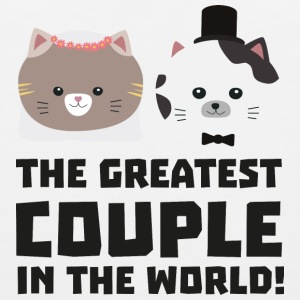 Greatest Cat Couple in the world Ud2n1 Mugs & Drinkware - Men's Premium Tank