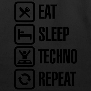 Eat Sleep Techno Repeat T-Shirts - Eco-Friendly Cotton Tote