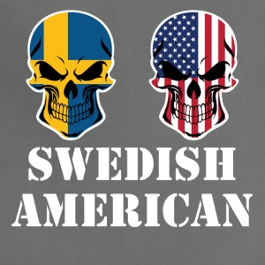 Swedish American Flag Skulls - Adjustable Apron