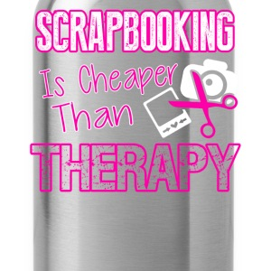 Scrapbooking Therapy Tee Shirt - Water Bottle