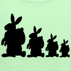 Four Easter Bunnies - Women's Flowy Tank Top by Bella