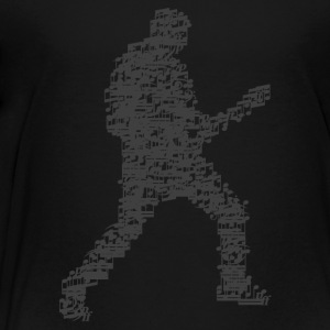 guitar_player_notes_09201601_grau Kids' Shirts - Toddler Premium T-Shirt