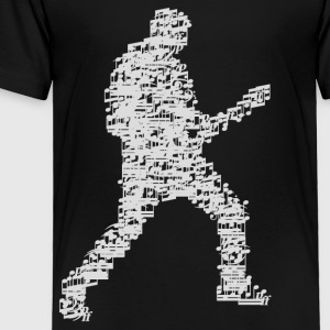 guitar_player_notes_09201601 Kids' Shirts - Toddler Premium T-Shirt