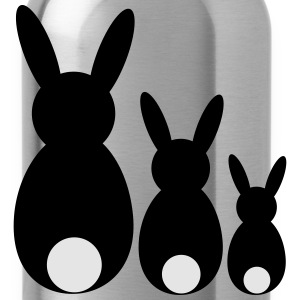 three easter rabbits - Water Bottle