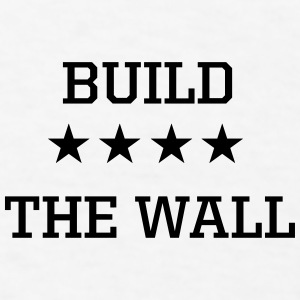 Build the Wall Blue, White & Red Trucker Hat - Men's T-Shirt