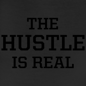 The Hustle Is Real Men's Gray Tee - Leggings