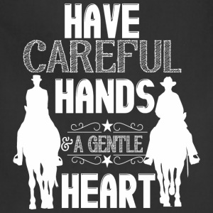 Have careful hands - horses Hoodies - Adjustable Apron