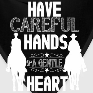Have careful hands - horses Hoodies - Bandana