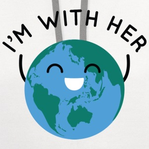 I'm With Her - Contrast Hoodie